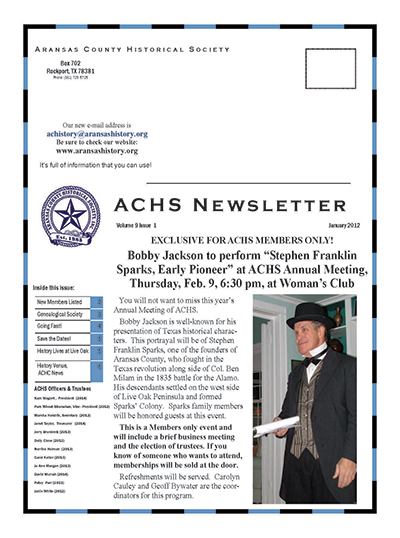 January 2012 – Volume 9 Issue 1
