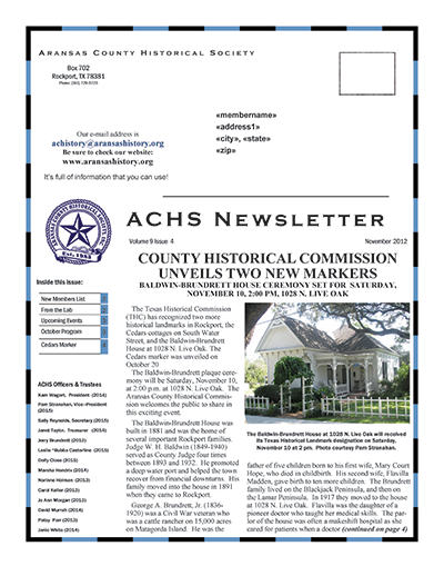 November 2012 – Volume 9 Issue 4