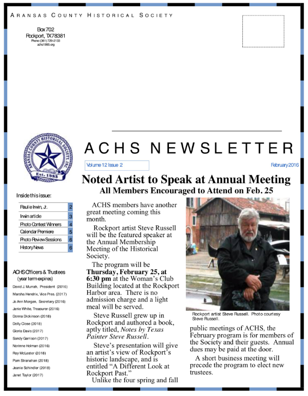 February 2016 — Volume 12 Issue 2